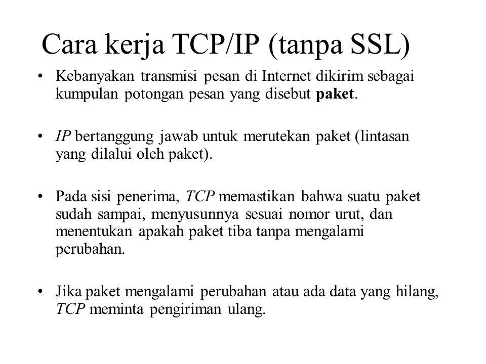 Cara kerja TCP/IP (tanpa SSL)