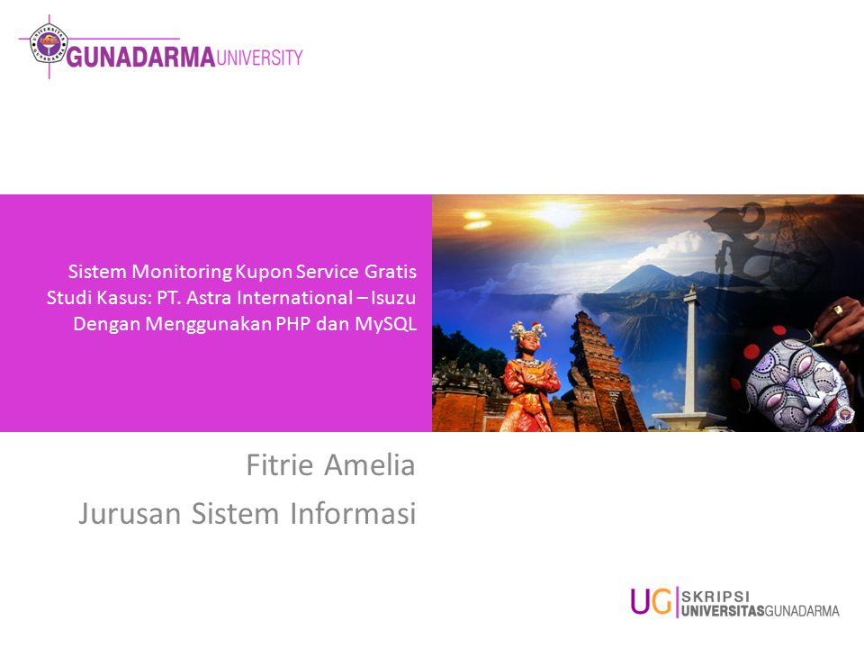 Fitrie Amelia Jurusan Sistem Informasi