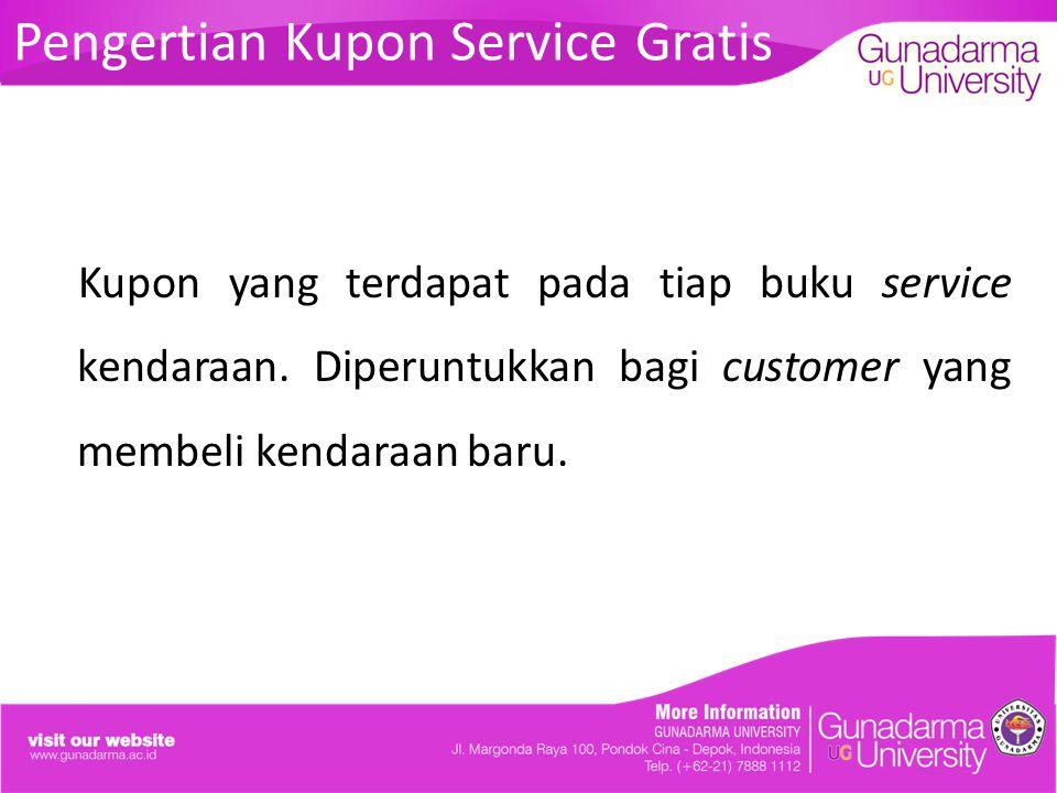 Pengertian Kupon Service Gratis