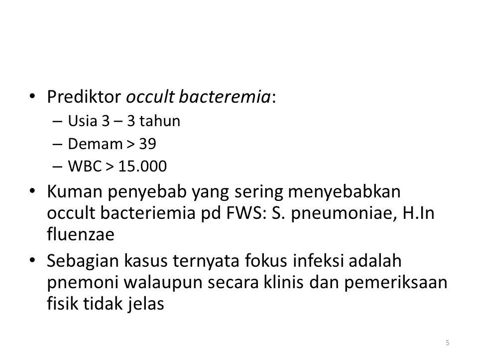 Prediktor occult bacteremia: