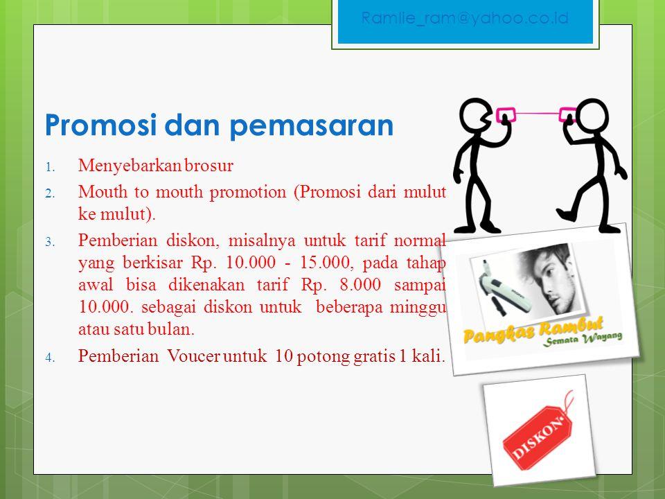 Promosi dan pemasaran Menyebarkan brosur