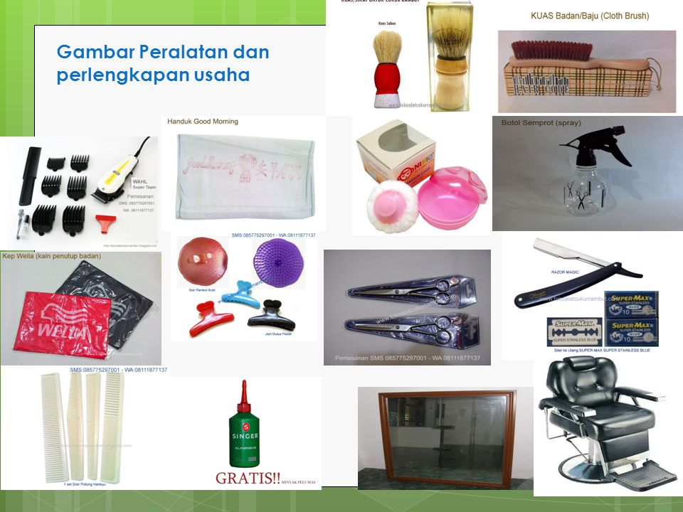 Gambar Peralatan dan perlengkapan usaha