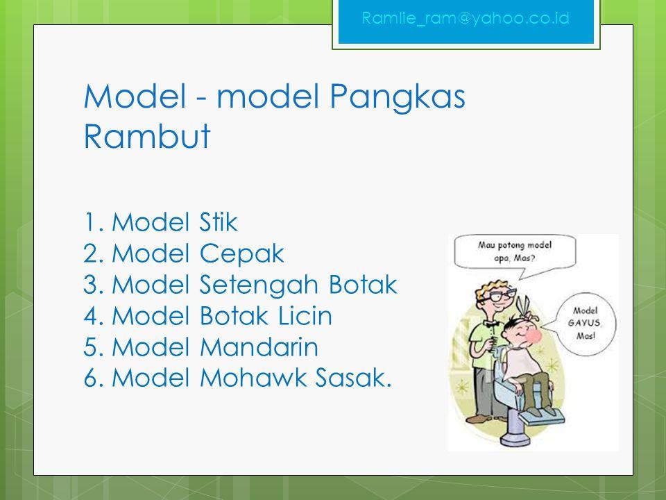 Model - model Pangkas Rambut