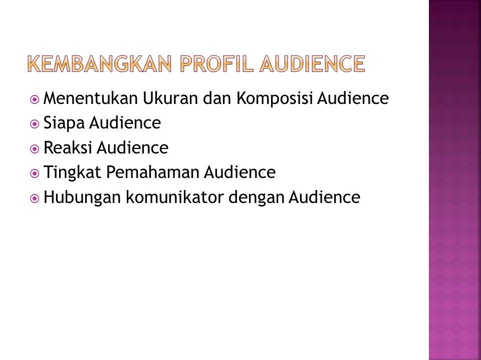 Kembangkan Profil Audience