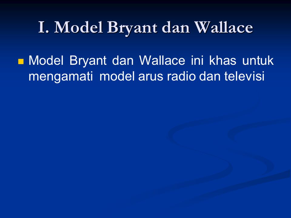 I. Model Bryant dan Wallace