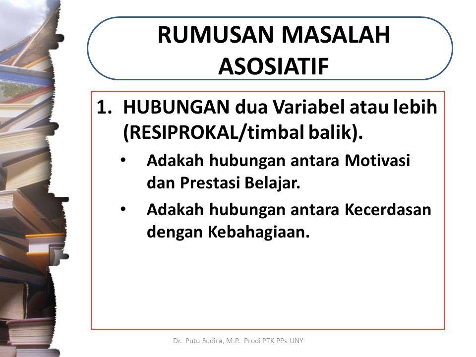 RUMUSAN MASALAH ASOSIATIF