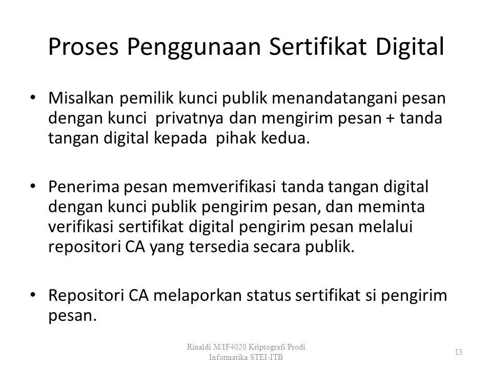 Proses Penggunaan Sertifikat Digital