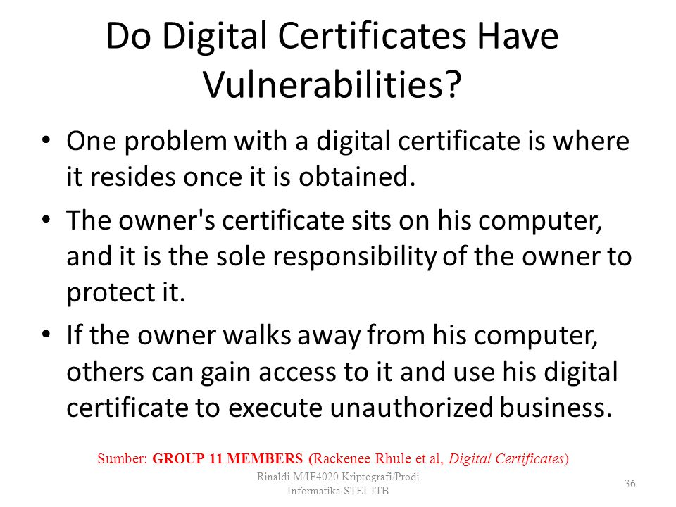 Do Digital Certificates Have Vulnerabilities