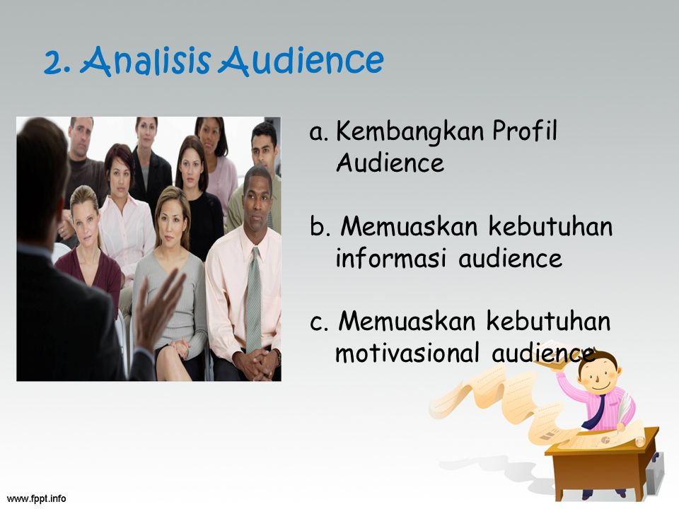 2. Analisis Audience Kembangkan Profil Audience
