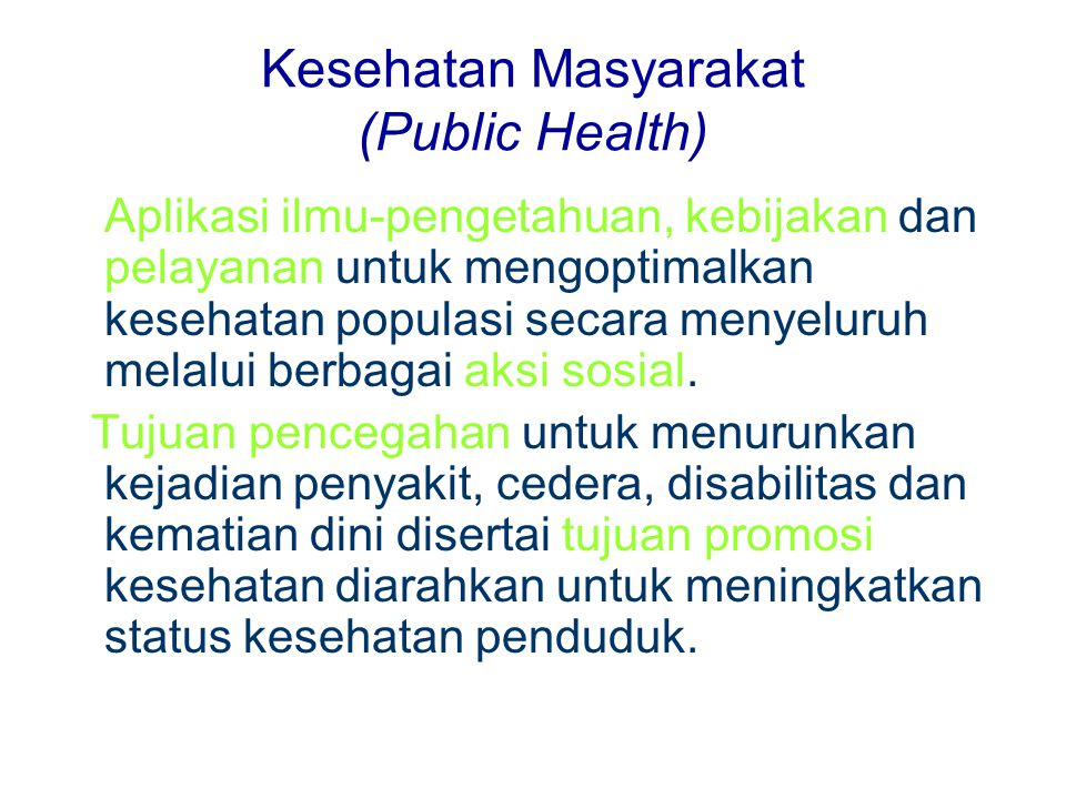 Kesehatan Masyarakat (Public Health)