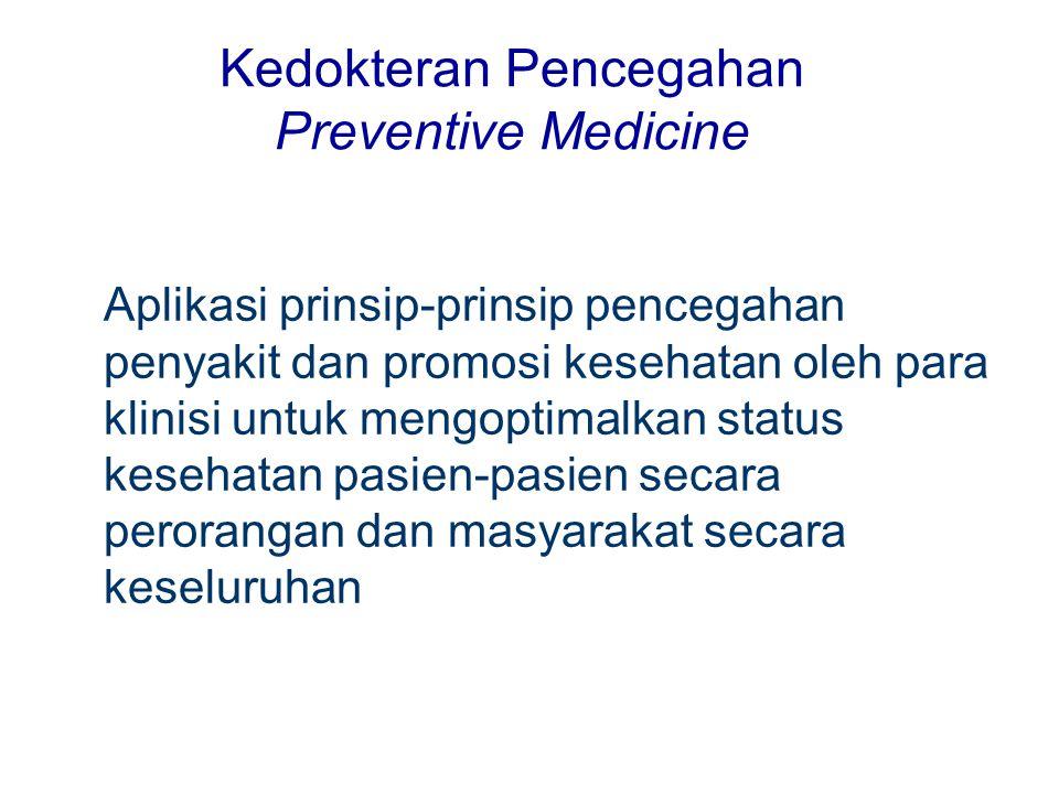 Kedokteran Pencegahan Preventive Medicine