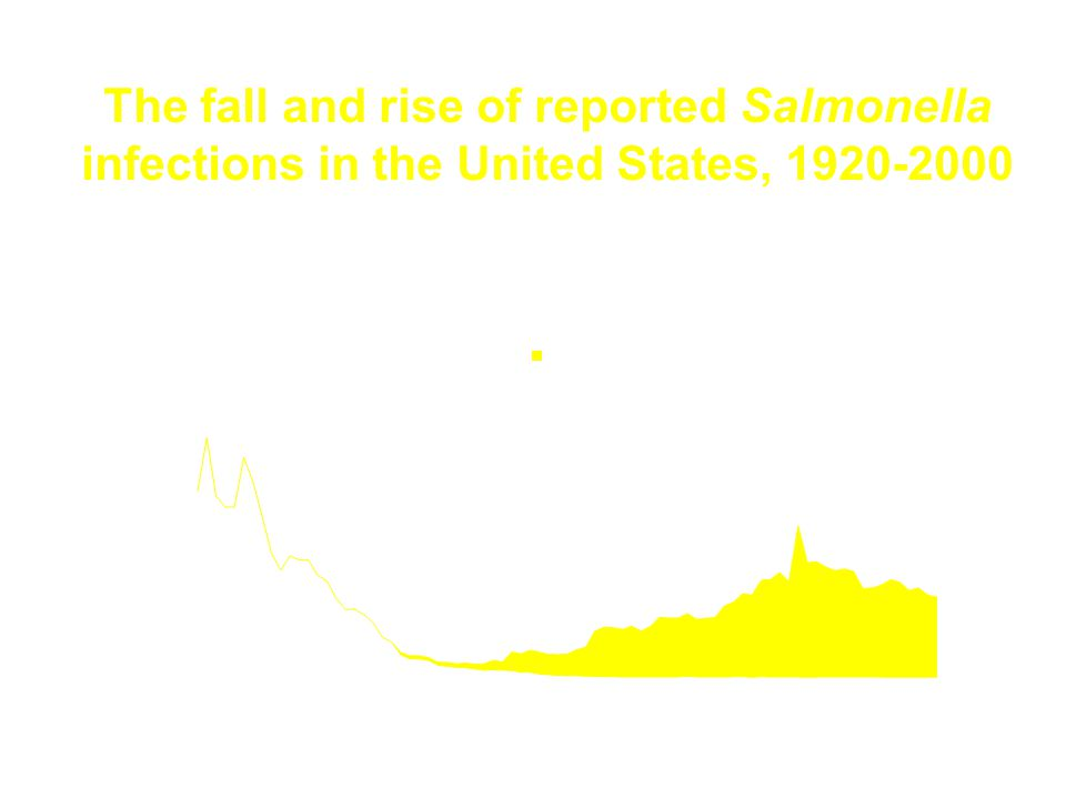 The fall and rise of reported Salmonella infections in the United States, 1920-2000