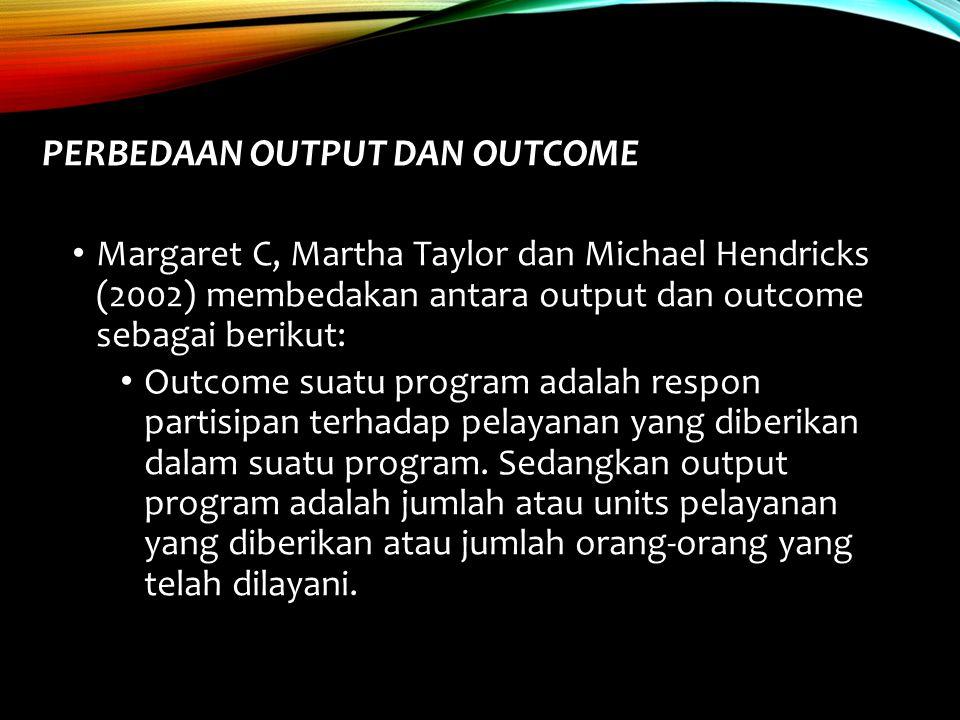 Perbedaan Output dan Outcome