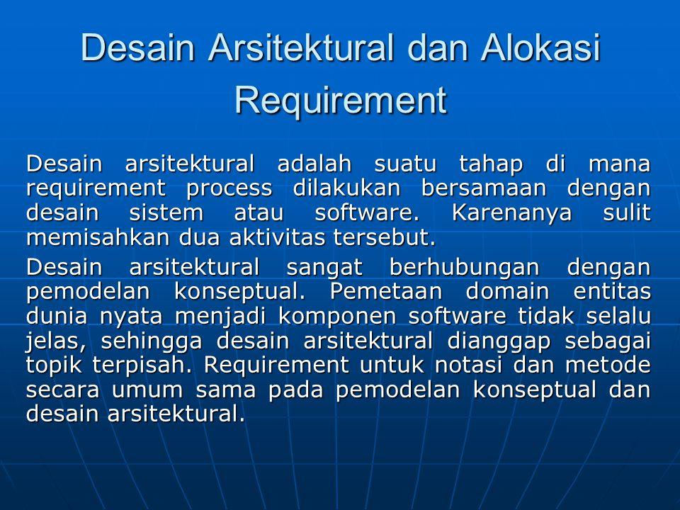 Desain Arsitektural dan Alokasi Requirement