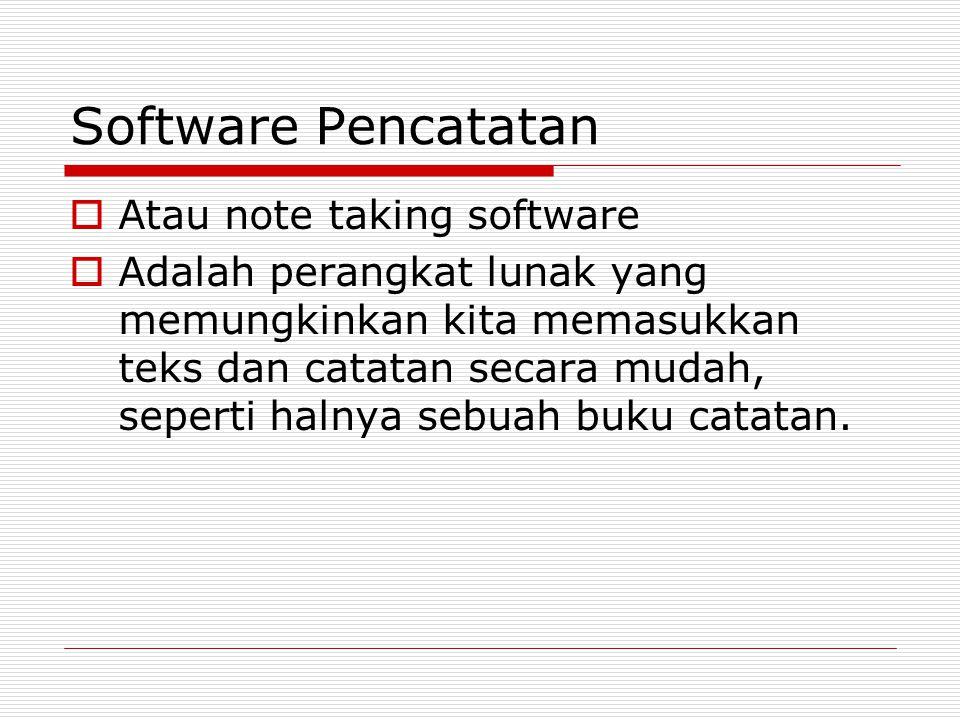 Software Pencatatan Atau note taking software