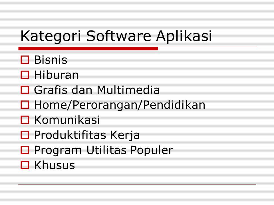 Kategori Software Aplikasi