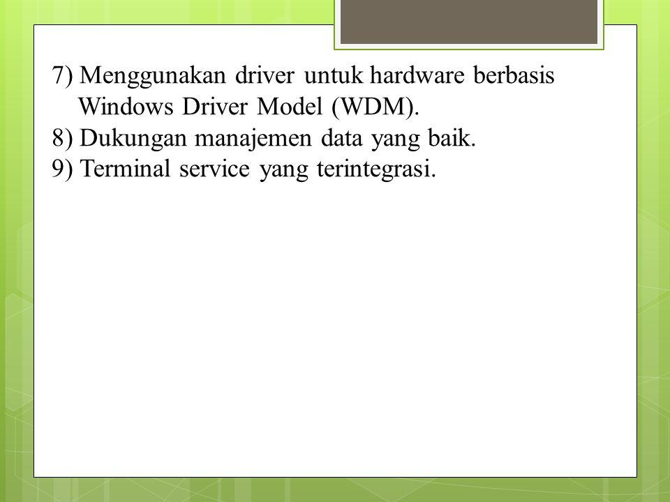 7) Menggunakan driver untuk hardware berbasis
