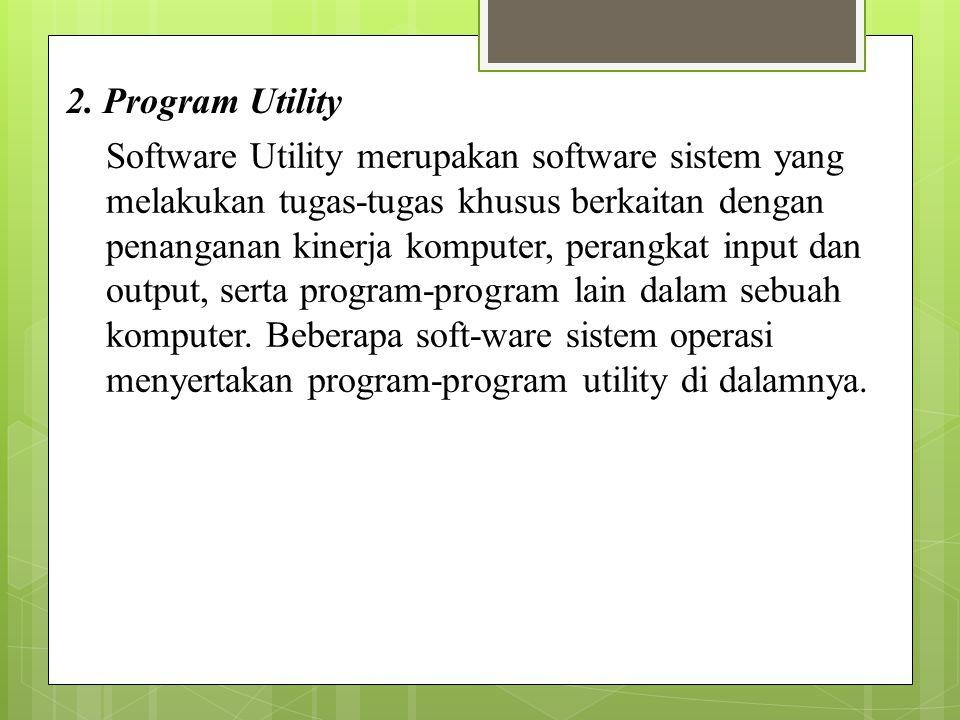 2. Program Utility