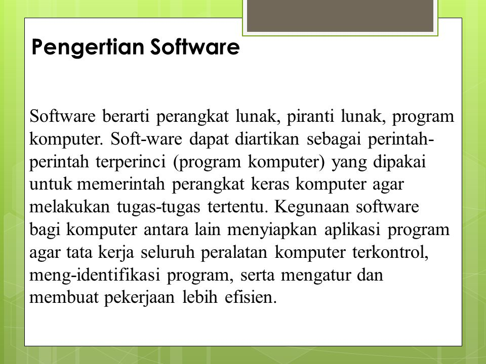 Pengertian Software