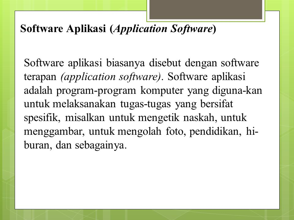 Software Aplikasi (Application Software)