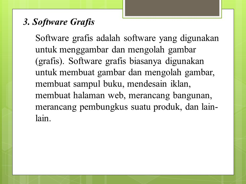 3. Software Grafis