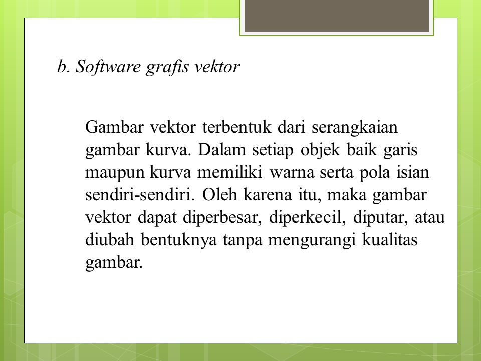 b. Software grafis vektor