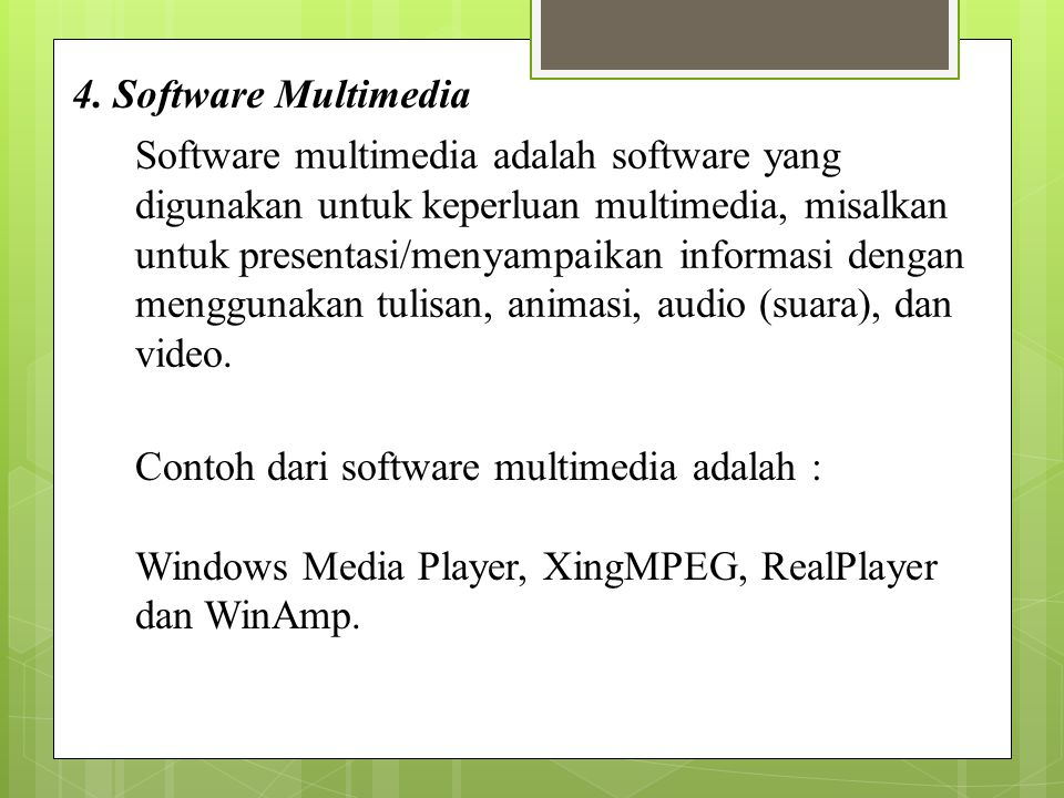 4. Software Multimedia