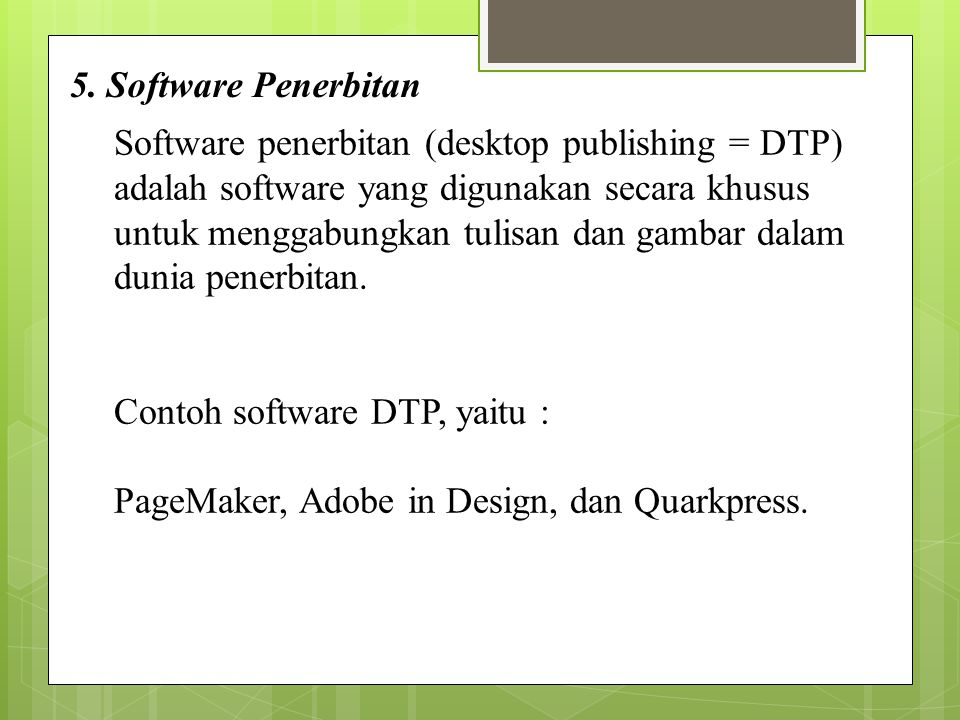 5. Software Penerbitan