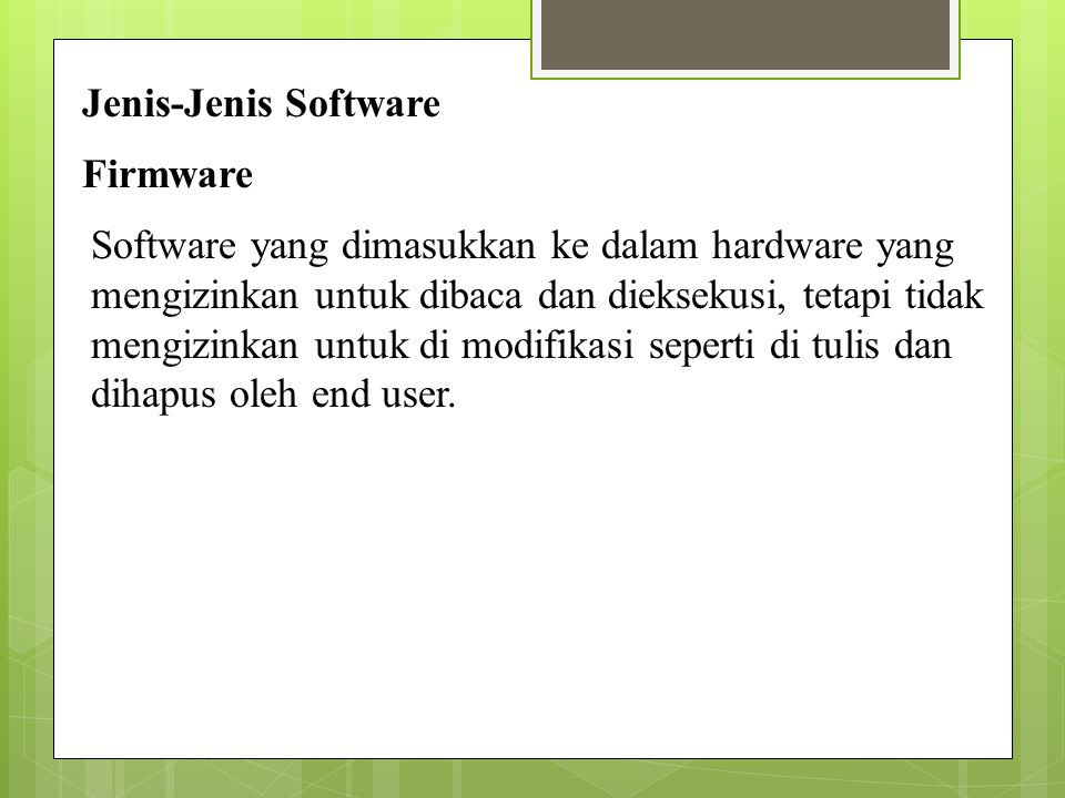 Jenis-Jenis Software Firmware.