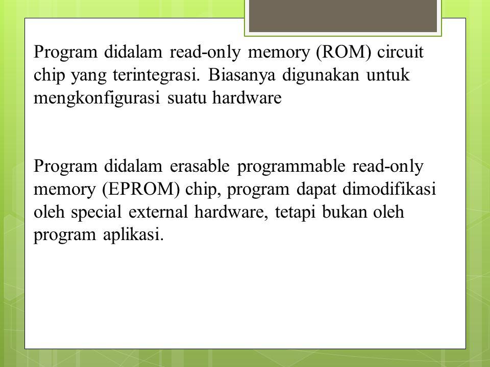 Program didalam read-only memory (ROM) circuit chip yang terintegrasi