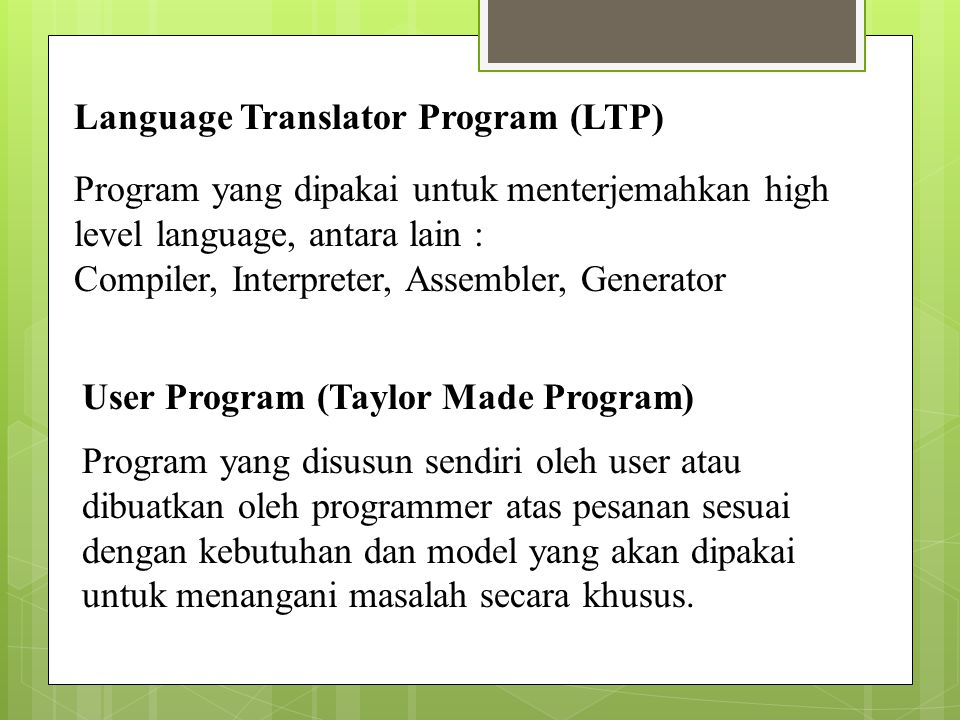 Language Translator Program (LTP)
