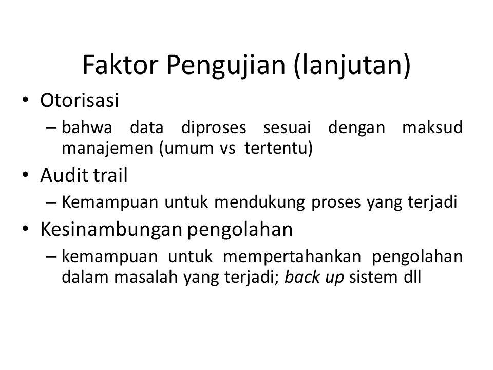 Faktor Pengujian (lanjutan)