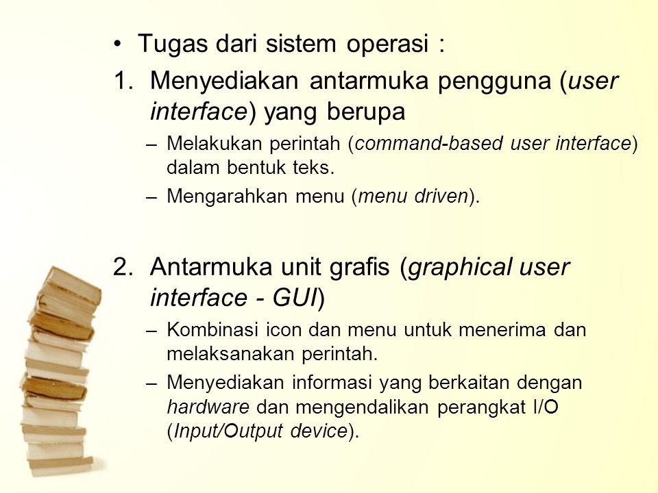 Tugas dari sistem operasi :