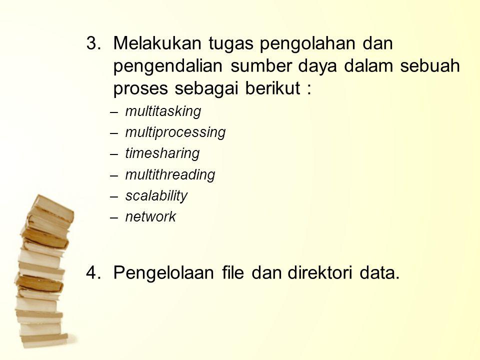 Pengelolaan file dan direktori data.