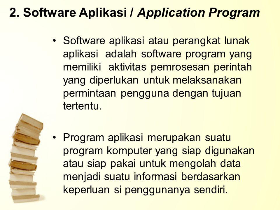 2. Software Aplikasi / Application Program