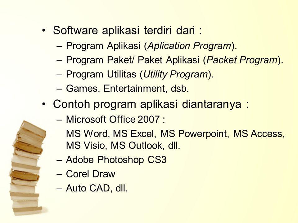 Software aplikasi terdiri dari :