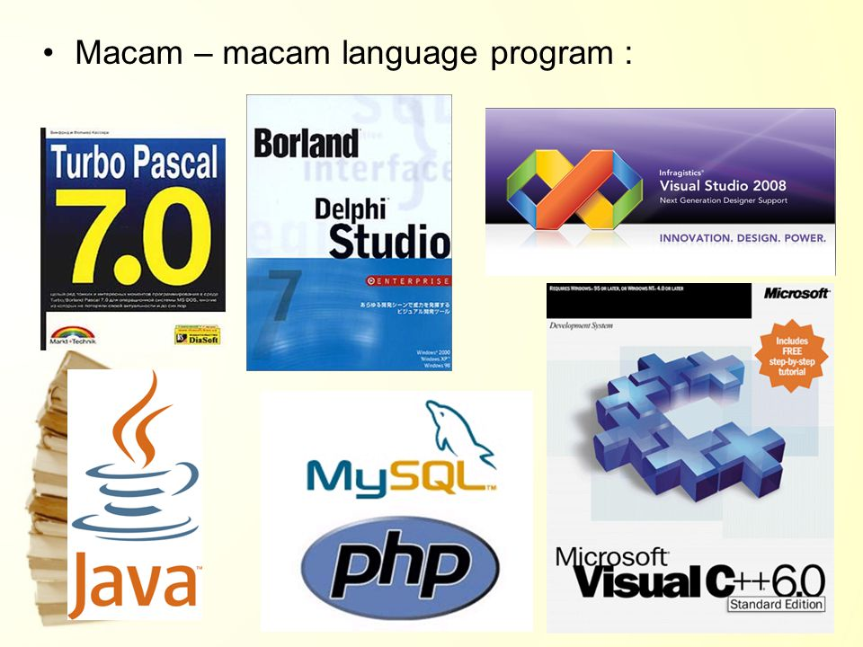 Macam – macam language program :