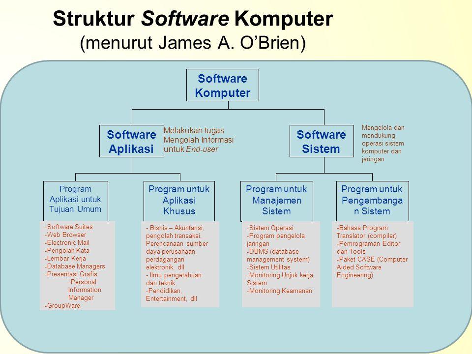Struktur Software Komputer (menurut James A. O'Brien)