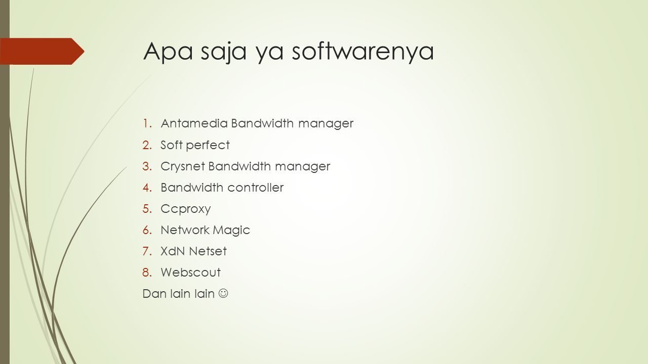 Apa saja ya softwarenya