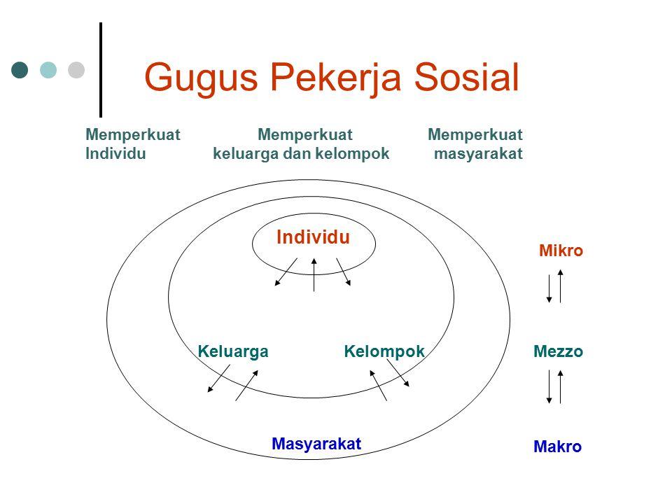 Gugus Pekerja Sosial Individu Mikro Keluarga Kelompok Mezzo Masyarakat