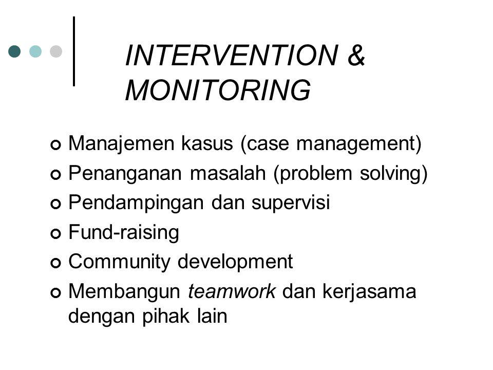 INTERVENTION & MONITORING