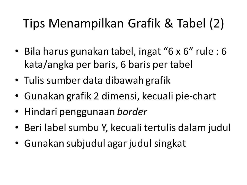 Tips Menampilkan Grafik & Tabel (2)