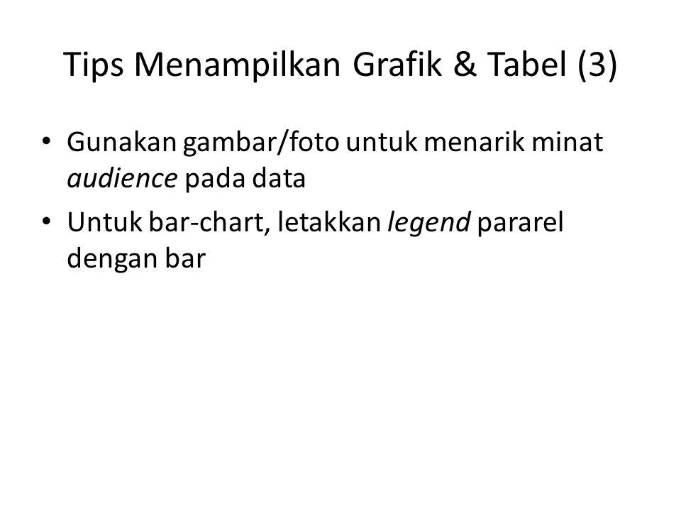Tips Menampilkan Grafik & Tabel (3)