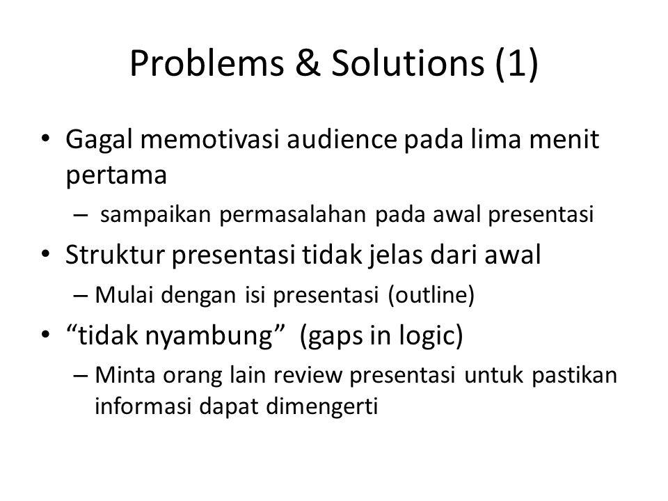 Problems & Solutions (1)