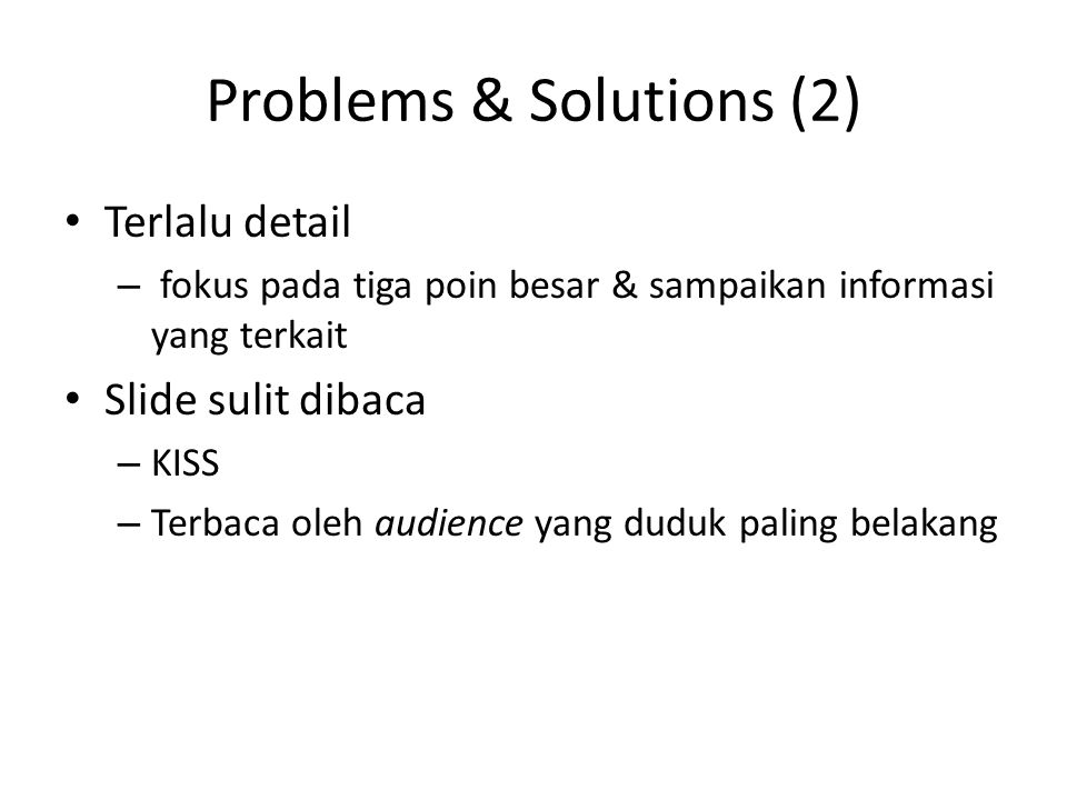 Problems & Solutions (2)