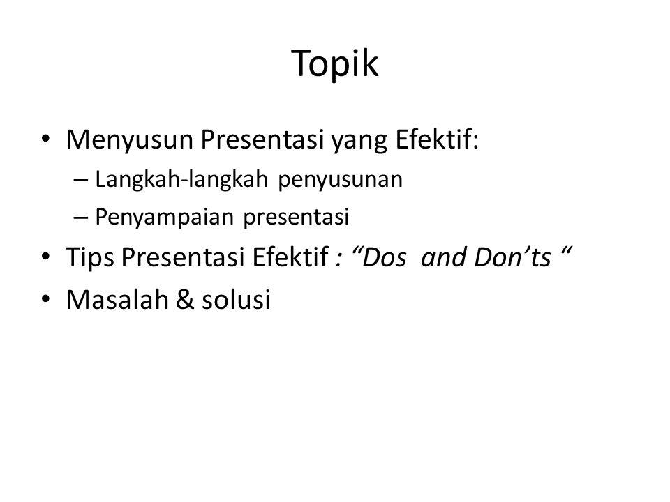Topik Menyusun Presentasi yang Efektif:
