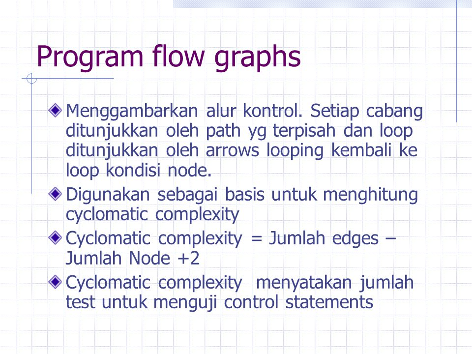 Program flow graphs