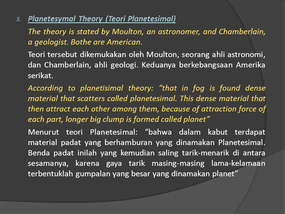 Planetesymal Theory (Teori Planetesimal)