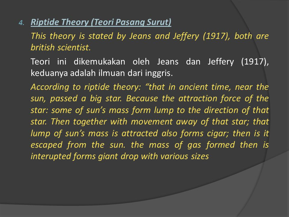 Riptide Theory (Teori Pasang Surut)