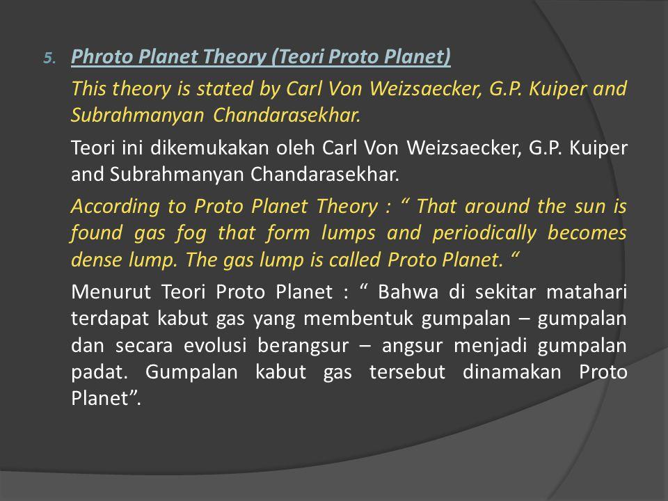 Phroto Planet Theory (Teori Proto Planet)